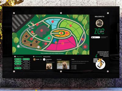 Interactive Zoo Map ui ux interactive design illustration graphic design