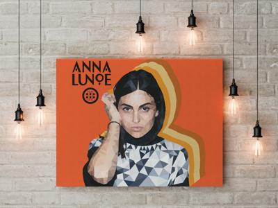 Anna Lunoe Illustration geometric low poly graphic design illustrator illustration celebrity portrait vector