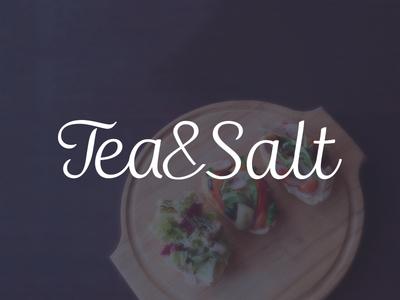 Identity for Tea&Salt organic calligraphy food tea salt copenhagen typography ecology