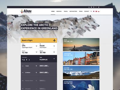 Aluu Airlines v2 redesign material design material flat airline website aluu sketch greenland denmark airplane booking
