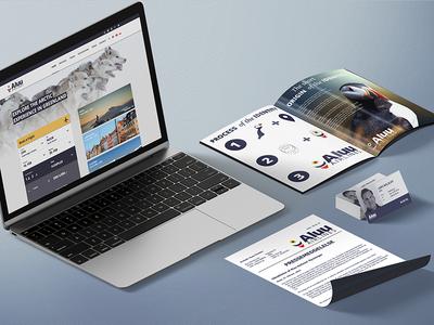 Aluu Airlines showcase business card press release brand manual material design logo airlines aluu material identity