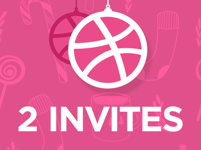 Dribbble - 2x Ornaments pink advent prospects prospect ornament invitation dribbble invite christmas