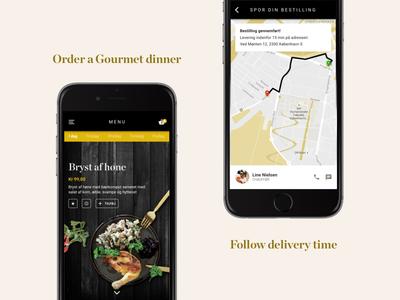 Food Service App danish gourmet tracking service app food