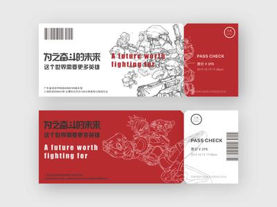 Overwatch Ticket design