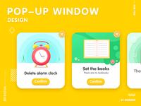 Popup window design