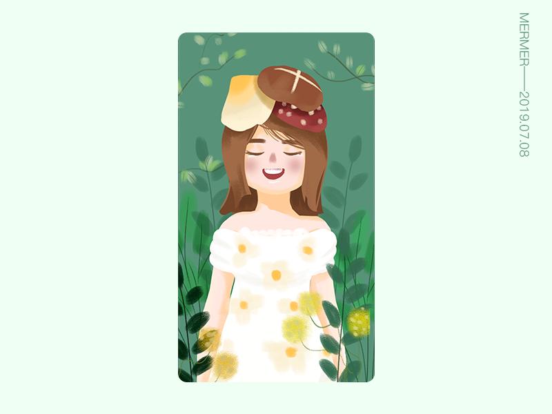 Illustration flower forest design illustration