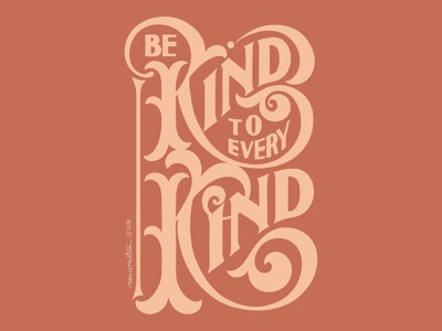 Be Kind lettering typography handlettering