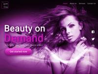 myGlamTime Website Design
