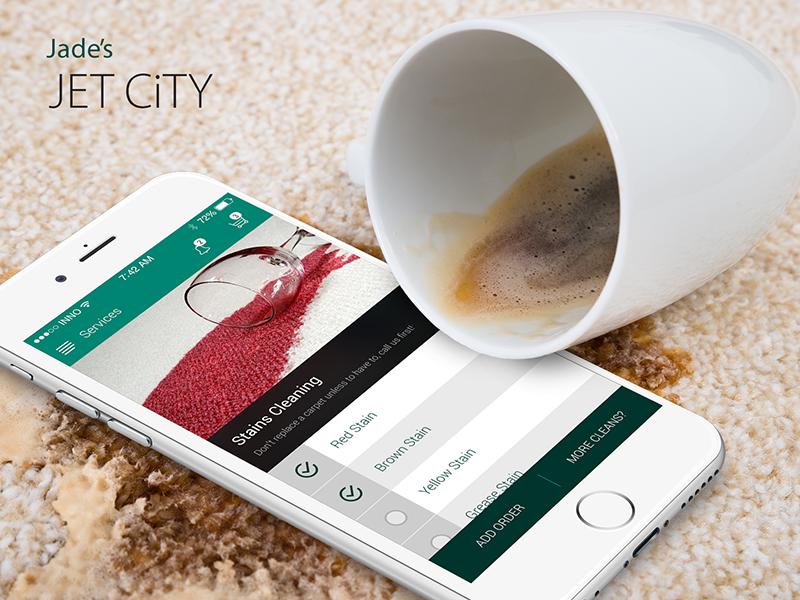 Jades Jet City ux utility app jades jet city ios app innofied cleaning app
