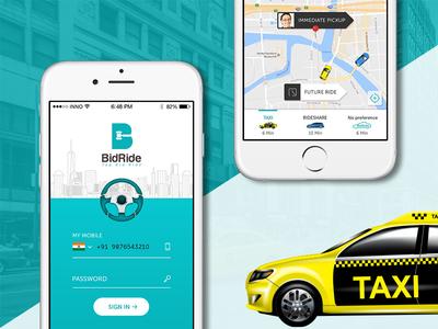 BidRide - Ride app with bidding features