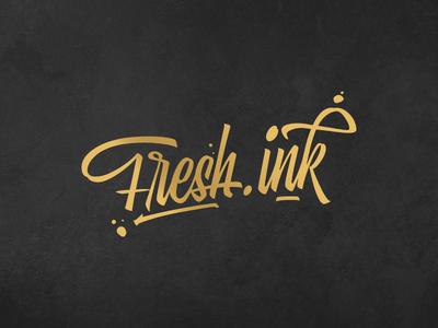 FreshInk Logo gold logo tattoo