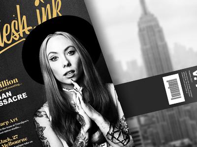 FreshInk Magazine Front & Back ink print magazine gold logo tattoo