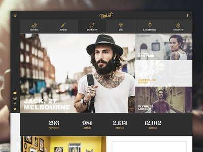 FreshInk Website ink website gold logo tattoo