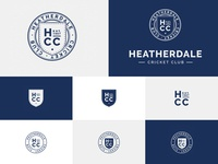 Heatherdale Cricket Club Logo Variations