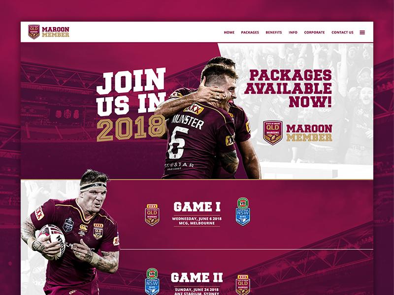 Maroon Member Homepage nrl qrl queensland rugby maroon website