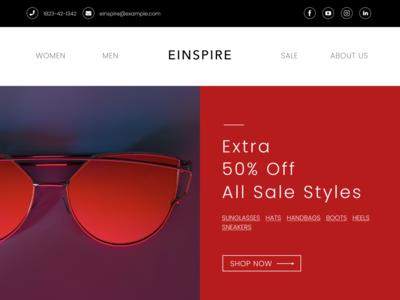 Sale Email Fashion Design