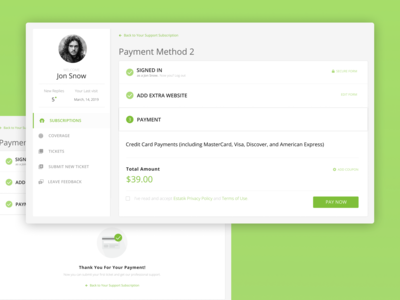 Payment Method Dashboard