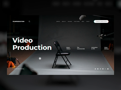 FILMPRODUCTION typography madewithadobexd adobexd interaction production movie film video clean web design animation ui