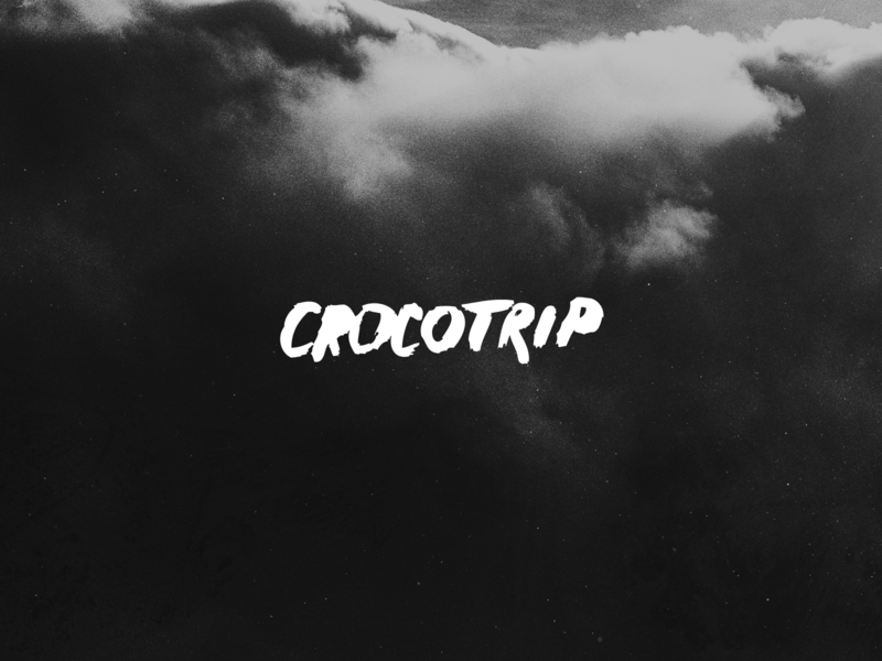 Crocotrip logo company agency design lettering typography branding logo