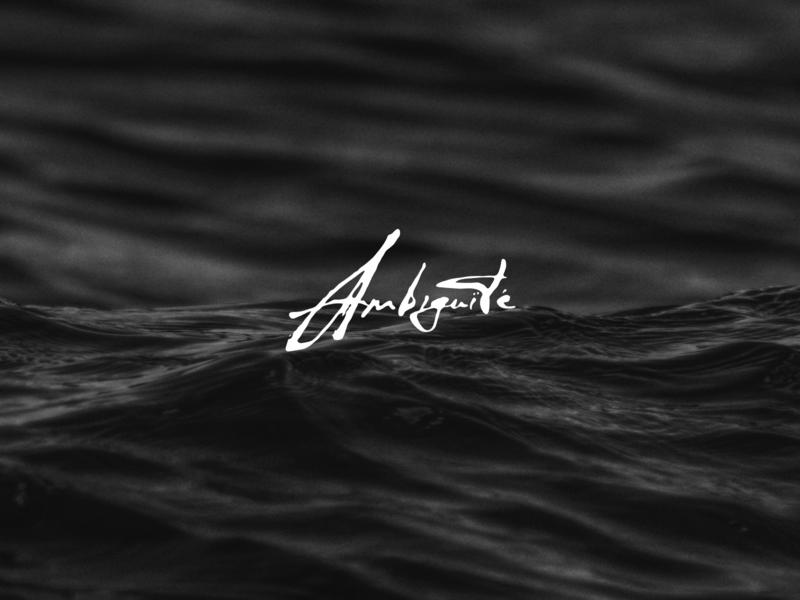 Ambiguïté music band vector design branding logo