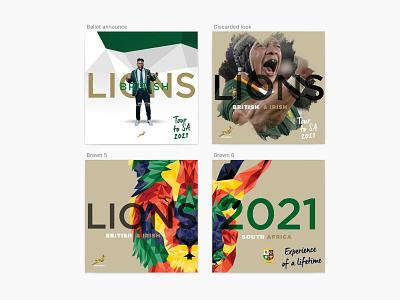 South Africa VS British Irish Lions Ballot announcement socialmedia sketch
