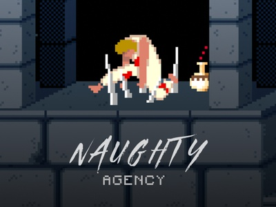 Naughty Agency illustration graphic design freelance ux client digital agency