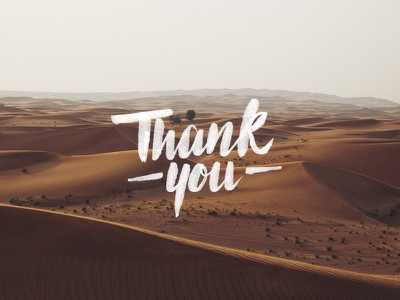 Thankyou thanks digital script hand custom