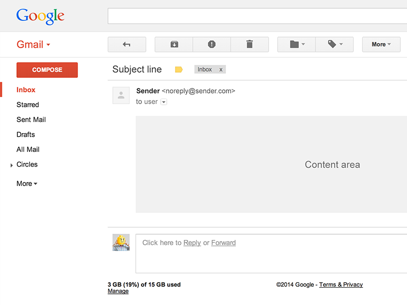 Gmail Template 2014 gmail email template psd
