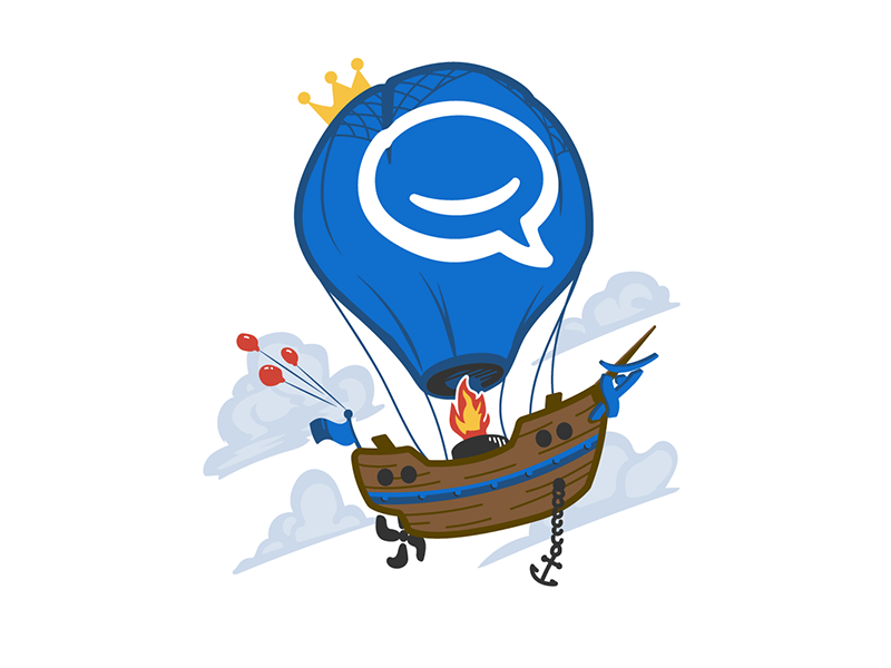 Hipchat Go Big by Joel Unger for Atlassian on Dribbble