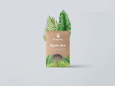 Açai packaging branding identity graphic tropic packaging logo açai