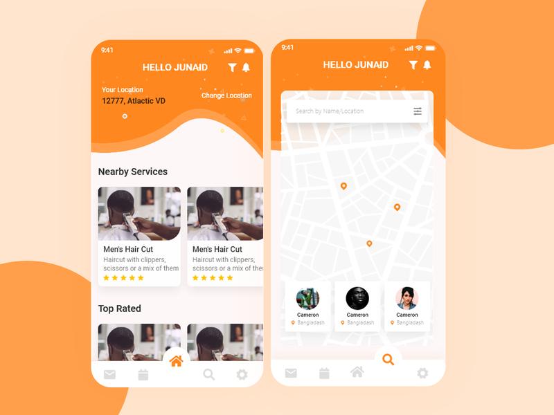 Hair Stylist App designer design uxdesign uidesign uiuxdesign uiux android app design mobile design mobile app mobile ui designing ux ui
