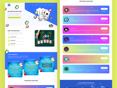 Pokio club Landing Page web typography illustrator web design website webdesign designing landingpage adobexd ux design ui
