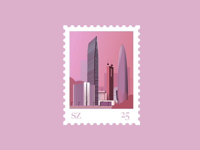 Stamp for Shenzhen stamp