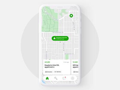 Service App – Concept app ui application card sketch swipe location map interaction app design animation ui design app