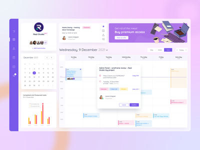 Task Management Concept vector ux ui design coloful transparent illustrator 3d illustration graphs web app calendar time management dashboad
