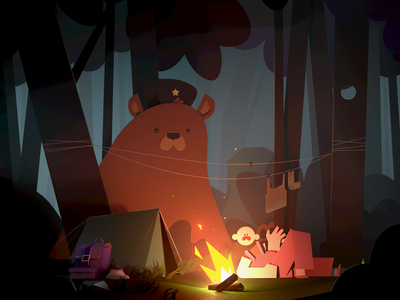 Camping time illustration