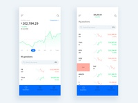 Trading app (light theme)