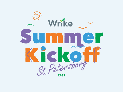 Wrike Summer Kickoff 2019 motiongraphics motion design animation wrike illustration design 2d animatioin shape animation
