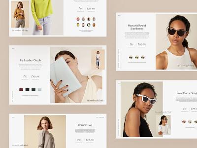 Italic Lookbook user interface layout design layout photography figmadesign branding design website minimal lookbook ecommerce ui