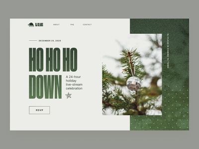 Daily UI Warmup 02 – Ho ho ho down winter music ui  ux concepts typography website ui ux holidays christmas santa concept hero section landing page