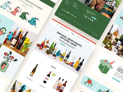 Organic Wine Website ecommerce wine web ui ui uidesign ui design web design website