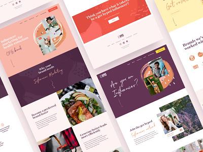 Influencer Marketing Agency Website purple uiux tiktok instagram landing page influencers ui web design webdesign uidesign