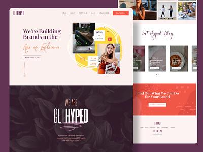 Influencer Marketing Agency Homepage homepage design homepagedesign homepage webdesign ui influencer marketing influencers ui design ui designer