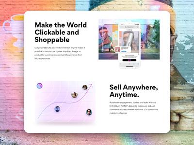 Augmented reality landing page ui desgin ui glassmorphic glassmorphism augmented reality