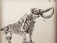 Mastodon Skeleton with Butterflies