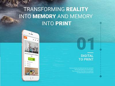 Digital to Print e-commerce campaign launch web design ux ui