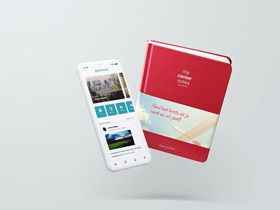 App & Boek Mock up product design app editorial