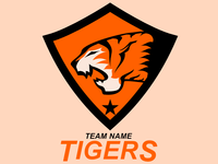 Tiger In Crest Mascot Logo