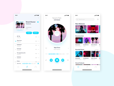 Daily UI #009: Music Player daily challange clean bright music player music app design ux ui