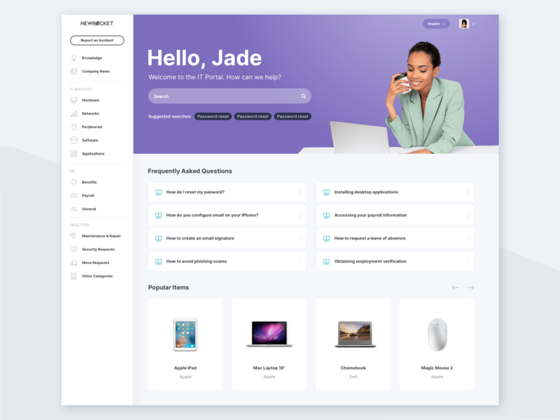 ServiceNow Employee Service Portal Theme by Jeff Lloyd for